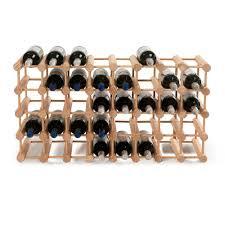 Wine Enthusiast 40 Bottle Natural Floor Wine Rack 640 40 03 The