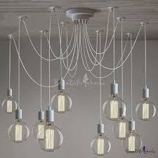 gracefully white 10 light industrial style multi light pendant