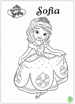 Sofia The First ColoringPage 01 Coloring Page