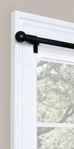 No Drill Curtain Rod Brackets by Amazon Com Maytex Smart Rods No Measuring Easy Install Cafe