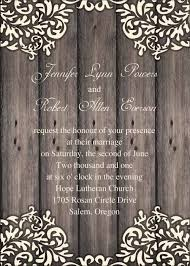 Vintage Floral Wooden Rustic Wedding Invites IWI248
