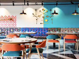 At Basani Co The Interior Matches Cuisine Bold And Colorful Photo Courtesy