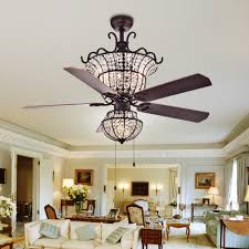 Shop Charla 4 Light Crystal 5 Blade 52 Inch Chandelier Ceiling Fan Optional Remote
