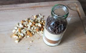 brownie backmischung schöne geschenkidee in der flasche