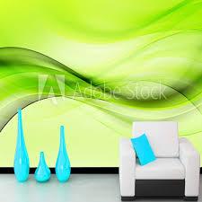 abstrakte tapete grün welle design abstrakte hintergrund kunst wandbilder für wohnzimmer sofas schlafzimmer hintergrund wände pvc