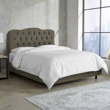 Roma Tufted Wingback Headboard Dimensions by Skyline Furniture Velvet Pewter Tufted Wingback Bed Free