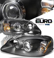 96 98 honda civic projector headlights black by tyc