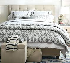 Upholstered Headboard Pottery Barn Tufted Low Bed Headboard