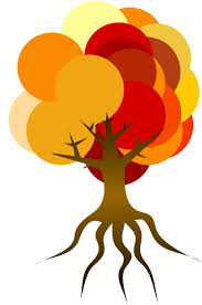 Colorful Tree Fall Clip Art