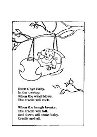 Nursery Rhymes Printable Coloring Pages Colotring