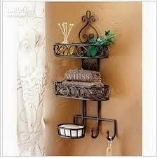 2018 Household Goods Receive Sanitary Toilet Wall Hanging Shelf Wrought Iron Bathroom From Winss 5086