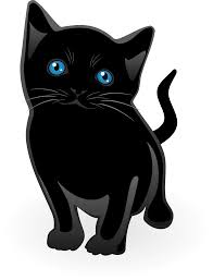 Black Cat clipart little black Pencil and in color black cat