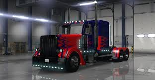 Optimus Prime Skin For Peterbilt 389 Truck - American Truck ...
