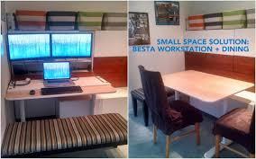 Ikea Linnmon Corner Desk Hack by Bestå Hidden Office Dining Bench Ikea Hackers Ikea Hackers