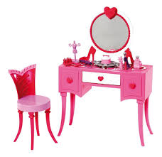 Vanity Dresser Set Accessories by Amazon Com Barbie Glam Vanity Furniture Set Toys U0026 Games