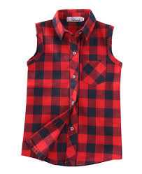 newest child checked shirts kid boys girls vest top button down