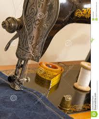 Sewing Supplies The Vintage Sewing Mashine Stock Image Image