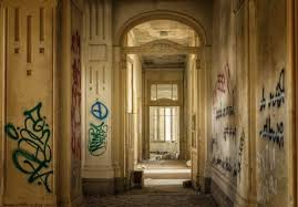 Door Architecture Old Graphite Wall Vandalism