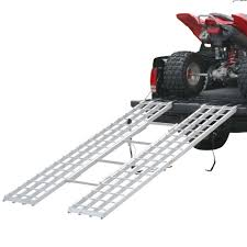4-Beam Aluminum Extra-Long Tri-Fold ATV Ramp - 7'1