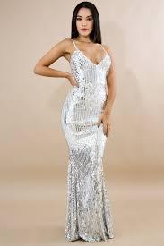 Sequins Stripes Maxi Dress