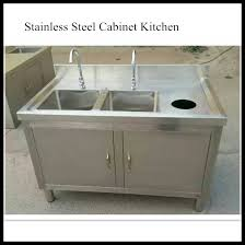 commercial kitchen cabinet stainless steel fish cleaning table