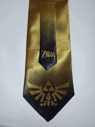 l k legend of zelda triforce gold satin neck tie ebay