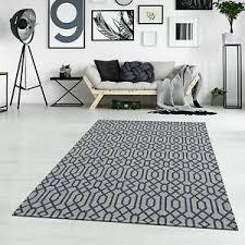 details zu teppich flachflor cotton 100 baumwolle modern in grau blau wohnzimmer