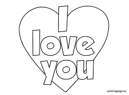 Perfect I Love You Coloring Pages 48 In Free Book With