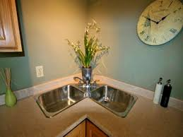Corner Kitchen Sink Cabinet Ideas by Bathroom Scenic Best And Cool Corner Kitchen Sink For Clean Home