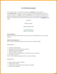 Sample Resume Profile Statement For Personal Example 1 Examples How To Write A Business Letters Objective