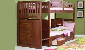 discovery world furniture merlot staircase mission bunk bed twin twin