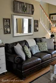 Brown Couch Living Room Design by Brown Couch Rustic Home Rustic Living Room Farmhouse Home