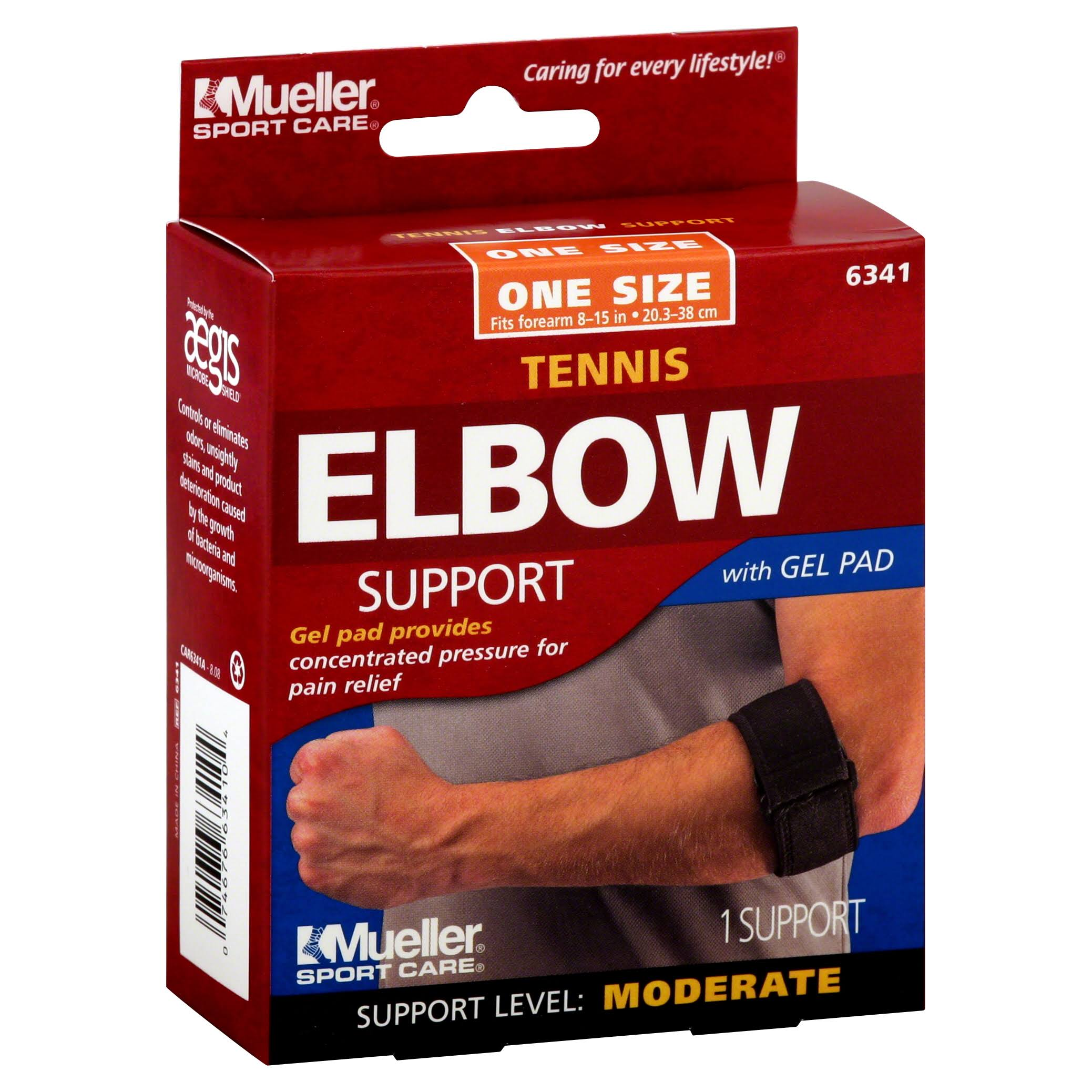 Mueller 6341 Tennis Elbow Support - with Gel Pad, One Size