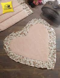 details zu badteppich herz mit rüsche badematte badezimmerteppiche badvorleger herzfo