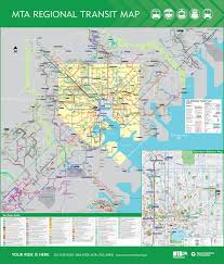 ficial Map Maryland Transit Administration Transit Maps