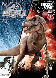 Amazon Bendon Jurassic World Sticker Scene And Coloring Book Playset Toys Games