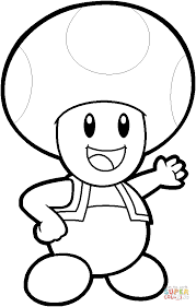 Click The Toad From Mario Bros Coloring Pages To View Printable Version Or Color It Online Compatible With IPad And Android Tablets