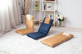 bonvivo bodenstuhl meditationsstuhl boden kissen sitzkissen mit rücken lehne farbe blau