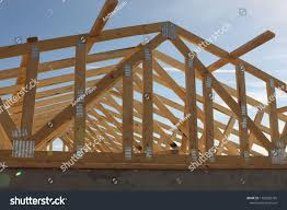 100 House Trusses Wooden Roof Construction New Stock Photo Edit Now