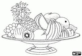 Colorbook Fruit Basket Fruits Coloring Pages English Worksheet