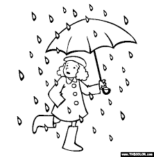 Rain Go Away Online Coloring Page