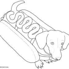 Boy And Girl Hot Dogs With Ukulele Coloring Page Dog