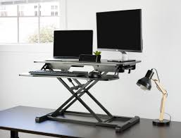 Multiple Monitor Standing Desk by Desk V000kheight Adjustable Standing Desk Sit To Stand Gas Spring