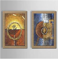 Fantasy Modern Canvas Abstract Oil Painting Wall Art With Stretched Frame Ready To Hang
