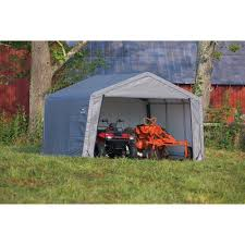 shed in a box 12 x 12 x 8 peak style storage shed gray