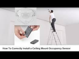 Ceiling Mount Occupancy Sensor Switch by How To Correctly Install A Ceiling Mount Occupancy Sensor Youtube