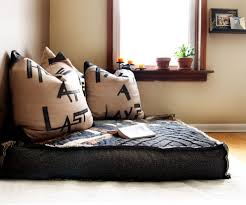 Shocking Oversized Floor Pillows Decorating Ideas in Living Room Eclectic design ideas