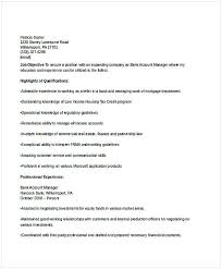 Bank Account Manager Resume For Position Many Of Us Interested In Being If You Are The One We Kindly Suggest Read
