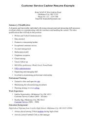 Cashier Job Description Resume Sample Free Template On A
