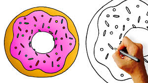 How To Draw A Cartoon Donut Easy